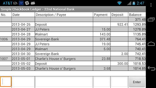 simple checkbook ledger apk 3 4 download free other apk download